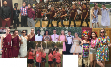 Faculty and students had a great time participating in the spirit days!