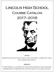 2017-2018 Course Catalog Cover