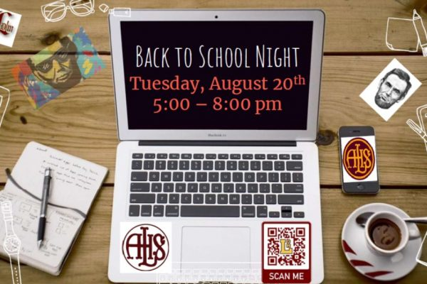 Back-to-School Night, Tuesday, August 20